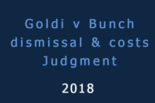Goldi v Bunch Judgment