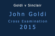 John Goldi Cross Examination 2015