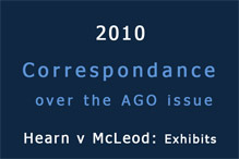 Correspondance over the AGO issue