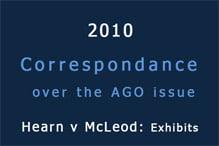 Correspondance over the AGO issue
